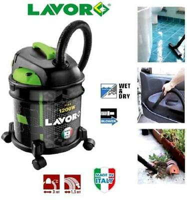 Lavor Italy Rudy 1200W Wet & Dry Vacuum Cleaner Industrial 20L 1200W 230V