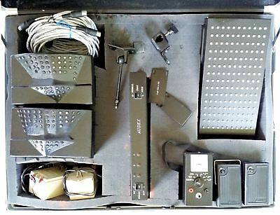 Audex Infra Red Assistive Listening Device Sample Kit Emitter Receiver in Case