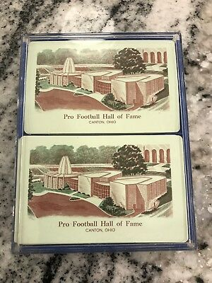 5417f8bbd VTG NFL PRO FOOTBALL HALL OF FAME DECK OF PLAYING CARDS (two decks) Near