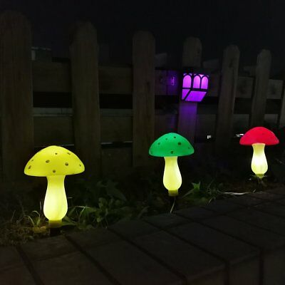 Outdoor Solar Garden Lights, Solar Powered Mushroom Lights, LED Solar Decor
