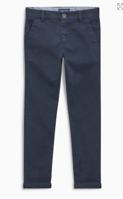 Boys trouser chino navy New EX sTore age 3 4 5 6 7 8 years RRP £10 - £11