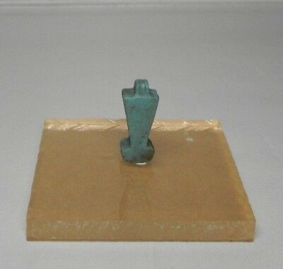 Ancient Egyptian Menat Counterpoise  Amulet, faience Late Period 664~535 BC