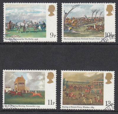 GB Stamps 1979, Horseracing Paintings, set of 4 VFUsed from FDC. SG 1087-1090