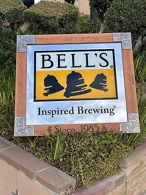 Bell's Brewing Beer Mirror Frame Bar Sign Man Cave Pub