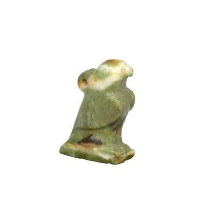* An Egyptian Feldspar Amulet of a Falcon, 26th Dynasty, 664 - 525 BC
