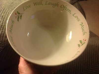 Lenox holiday live well sentiment serving bowl New with tags