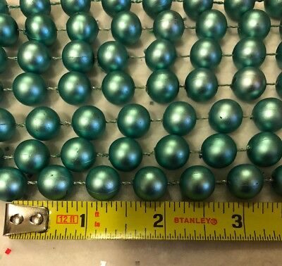 GARLAND CHRISTMAS ARCTIC LUSTER LARGE BEAD Light Teal Blue DECORATION 12 FT