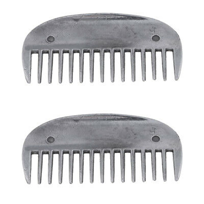 2pcs Horse Metal Curry Comb Hair Brush Grooming Care Farming Performance