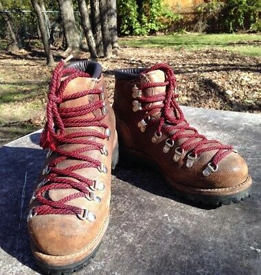 Vtg Dexter Leather Hiking Boots Vibram sole Mens 7.5M - Women 9W Made in USA