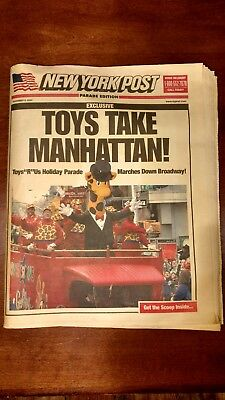 TOYS R US NEW YORK POST PARADE EDITION FEATURING TIMES SQUARE STORE (November...