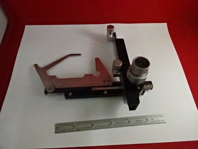 Stage Clips Micrometer Leitz Germany Hm-Lux Microscope Part As Is &3-B-23