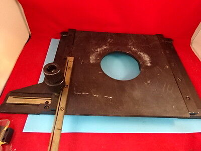 LEITZ GERMANY STAGE TABLE MICROMETER [rough] MICROSCOPE PART OPTICS &TC-4-C