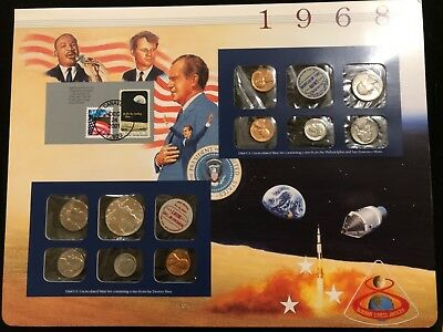 1968 Postal Commemorative Society U.S. Mint Sets & Stamps w Nixon- Kennedy -King