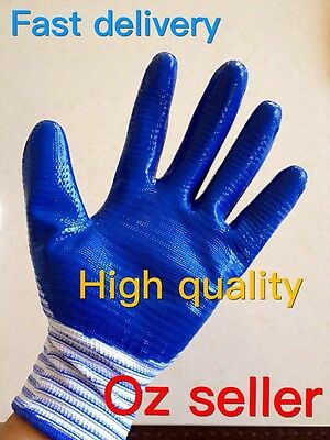 2 Pairs Free Shipping Nitrile Coated Gloves Work Outdoor Fishing Gardening