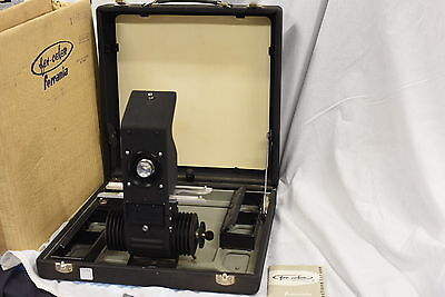 Fer-Color Ferrania Vintage Portable 35mm Slide Projector - No Power Cord