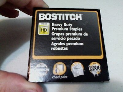 Bostitch PHD-60 Stapler Heavy Duty Staples 1000 1 box