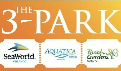 SEAWORLD ORLANDO THREE Park Ticket Discount Savings Tool PROMO ~ GREAT DEAL!