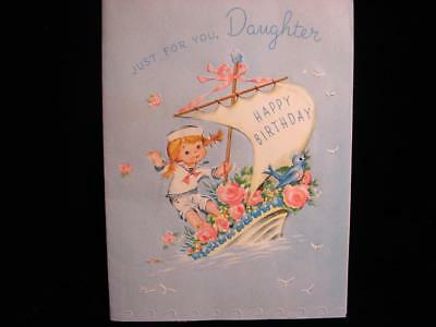 "Vintage ""sailing In For You Daughter!!"" Birthday Greeting Card"