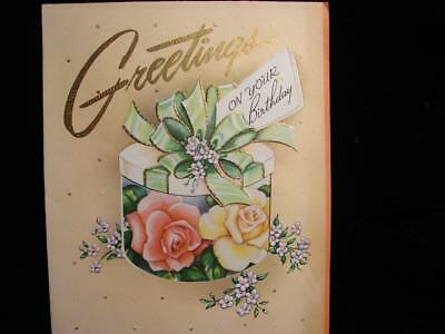 "Vintage ""wishing You Special Happiness!!"" Birthday Greeting Card"