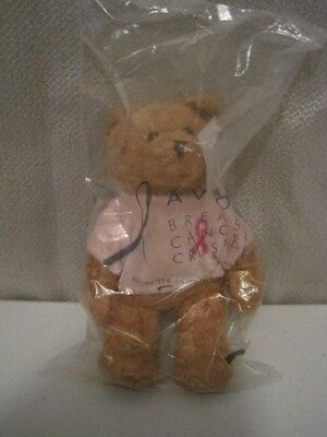 "New in the Package AVON Breast Cancer Crusade 6 1/2"" BEAR Beanie 2001 SEALED"