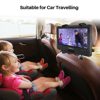 """COOAU 11.5"""" Portable DVD Player 270° Swivel Screen,with Car Charger , for travel"""