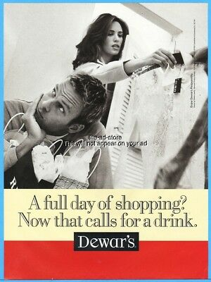 1997 Dewar's Scotch A Full Day of Shopping Now That Calls For A Drink Photo Ad