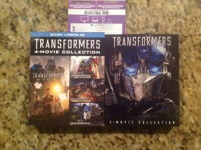 TRANSFORMERS 5 MOVIE COLLECTION 1 2 3 4 5 (Blu Ray,5-Disc)Authentic US