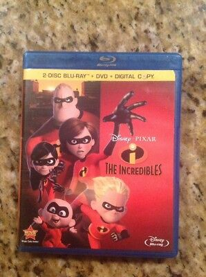 The Incredibles (Blu-ray/DVD, 2011,3-Disc)Authentic US Disney Release