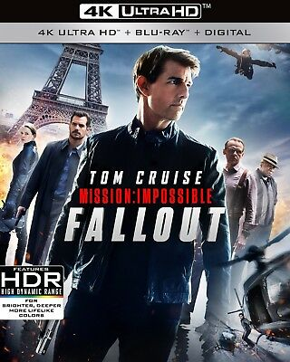 Mission Impossible Fallout 4K Ultra HD +Blu-Ray+ Digital, Brand New With Slip