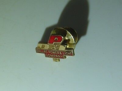 15 Year DP&L Dallas Power & Light 10K Gold Filled Service Award Pin Tie Tack