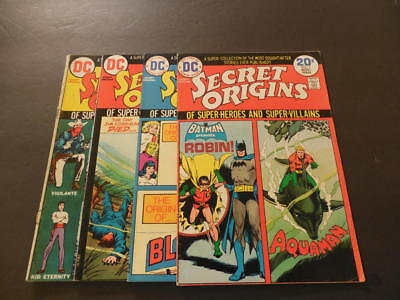 4 Iss Secret Origins #4-7 Oct 1973 - Oct 1974 Bronze Age DC Comics      ID:11519