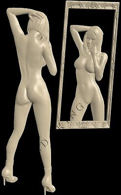3D STL Model # WOMEN & MIRROR # for CNC Aspire Artcam 3D Printer 3D MAX Rhino