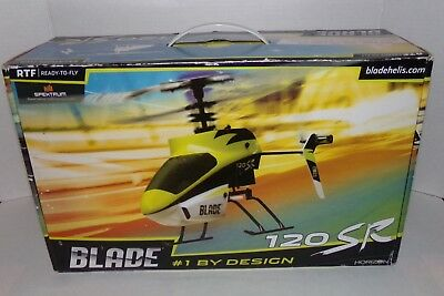 Blade 120 SR Remote Control RC Helicopter RTF Great Condition With Extras
