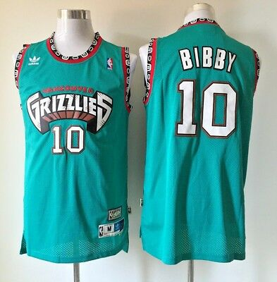 Mike Bibby Vancouver Grizzlies #10 Stitched Sewn Throwback Jersey S-2XL Green