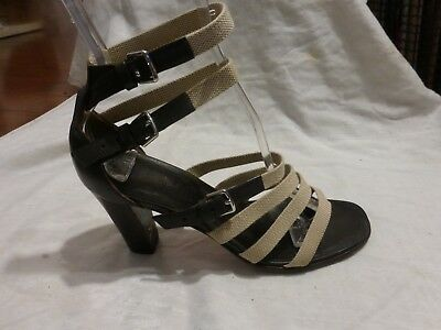 e1b89d648336 Hermes Leather Heels Size 36.5-6.5 Ankle Strap 9.25