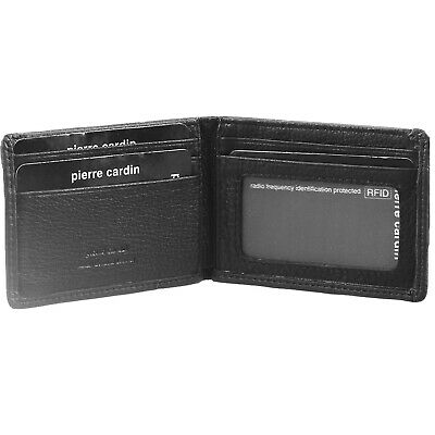 Pierre Cardin Mens Genuine Italian Leather RFID Wallet - Black