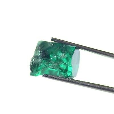 6.46ct Chatham (Flux) Emerald Lab Created Faceting Rough Stone