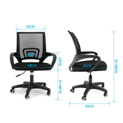 Black Ergonomic Mesh Desk Office Swivel Chair