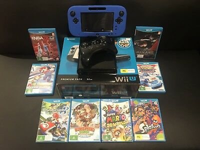 Nintendo Wii U Premium Pack 32gb Plus 1 Pro Controller and 8 Games