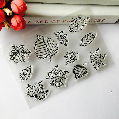 Maple Leaf Clear Silicone Rubber Stamp Seal for diy Scrapbooking Card Making