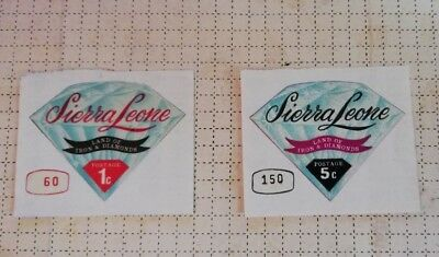 Sierra Leone Land of Iron & Diamonds Mineral Stamps 1970