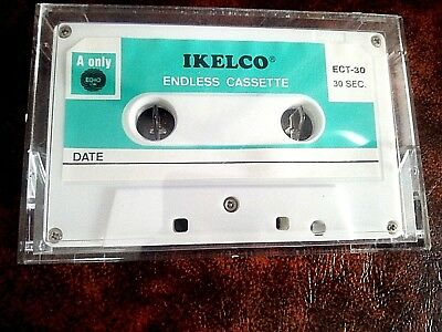 CASSETTE TAPE BLANK NEW - 1x (one)  IKELCO ENDLESS 30 sec. - Special Use