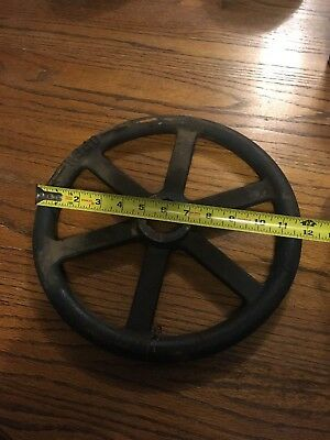 "Large  12"" Vintage Steampunk Cast Iron Water Valve Handle"