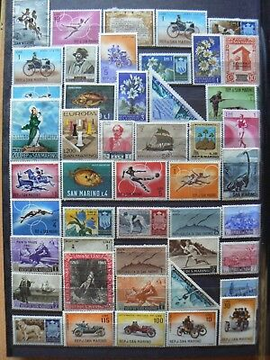 Collection Of San Marino Stamps