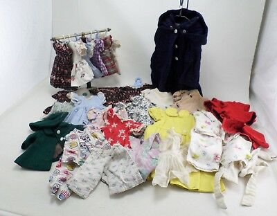 30+ Vintage 1950s Lot of Doll Clothes - 3 Sizes Small Medium & Large - Hand Made
