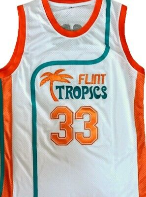 f6733bcf7cc Semi Pro Jackie Moon 33# Flint Tropics Basketball Jersey White Retro  Throwback