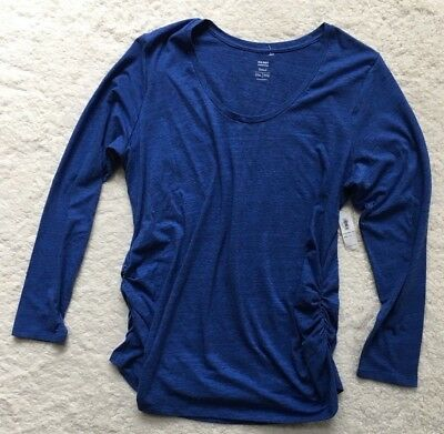 Old Navy Maternity Blue Long Sleeve Top Shirt Size Large XXL