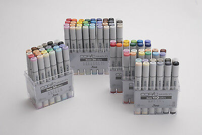 Copic Sketch markers set Basic 24, Basic 36, Basic 12,Illust 24 Express shipping