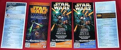 Disney Star Wars Weekends 2013 & 2014 lot of 5 different Guidemap Guide Map (R)