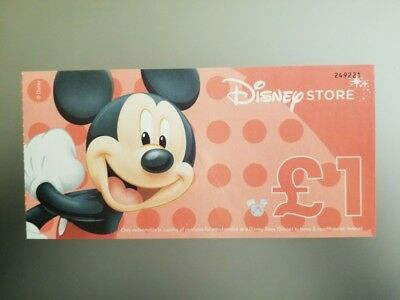 Disney Store UK £1 (with star) Disney Dollar Certificate